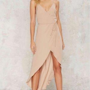 Nude Wrap Dress